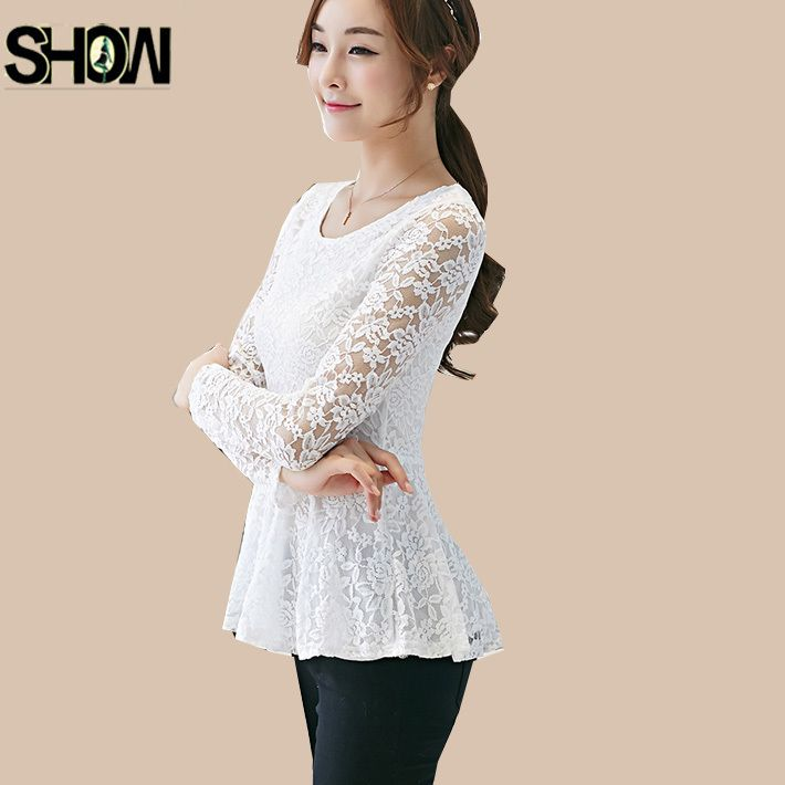 Cheap womens denim shirt, Buy Quality women designer leather jackets directly from China shirt neck Suppliers: Hot Fashion Women Autumn/Winter Slim Office Wear Elegant Crochet Black White Lace Blouse Shirt Long