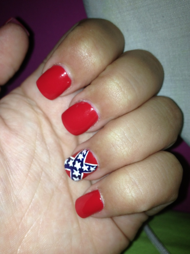 51 best country nails images on pinterest country nails confederate flag nails prinsesfo Gallery