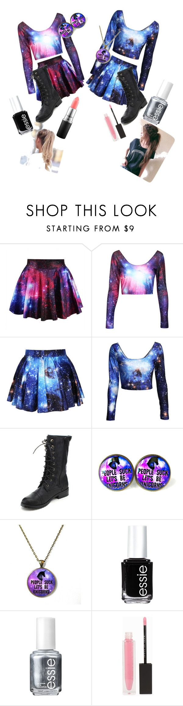 """""""BFF Matching Outfits"""" by nemo3509 on Polyvore featuring Nature Breeze, Essie, MAKE UP STORE and MAC Cosmetics"""