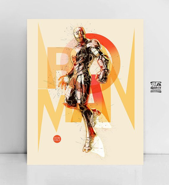 Iron Man Poster, Iron Man print by JAnoveltyDeSign