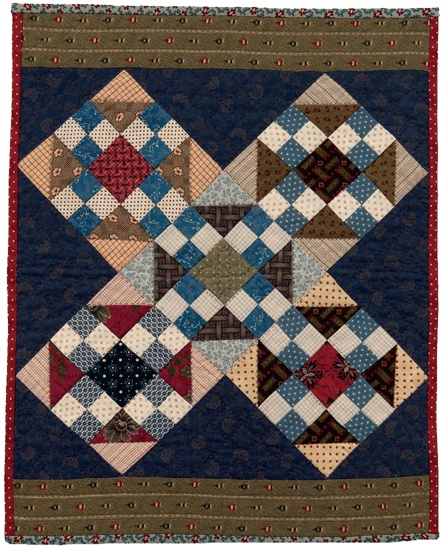 Civil War Scraps quilt by Kathleen Tracy