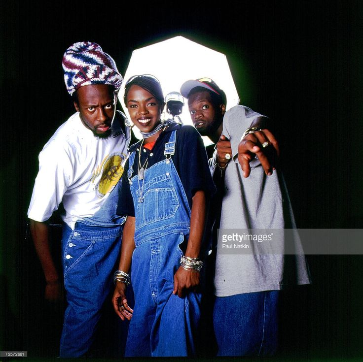 Wyclef Jean, Lauryn Hill and Praz of the Fugees on 8/16/96 in Chicago, Il.