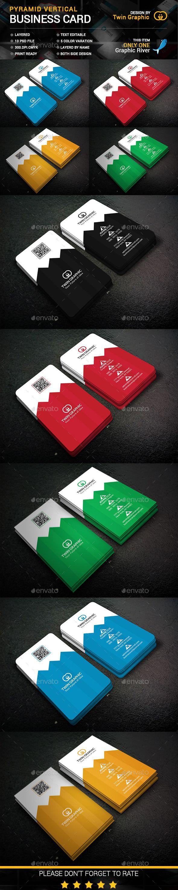 The 25+ best Vertical business cards ideas on Pinterest   Modern ...