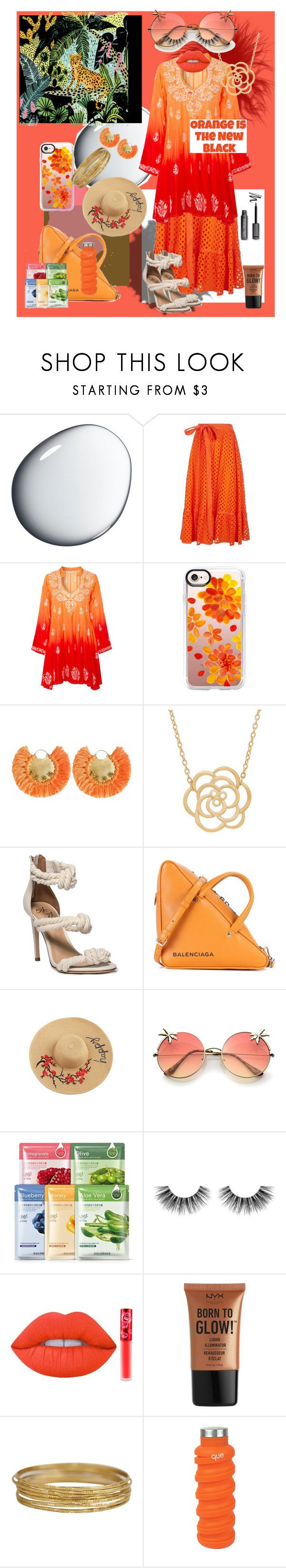"""Orange ya glad....?"" by klynne6559 on Polyvore featuring Clé de Peau Beauté, Tory Burch, Juliet Dunn, Casetify, Ricardo Rodriguez, Lord & Taylor, Balenciaga, Velour Lashes, Lime Crime and NYX"