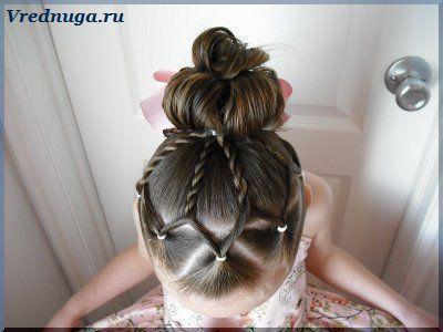 Праздничная прическа. #little #girl #hairstyle Колоски и косы - прически для девочек