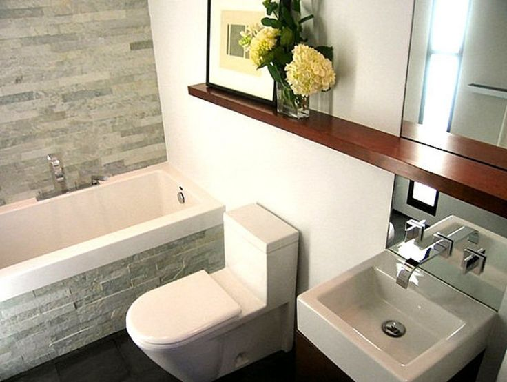 Captivating Decorate A Small Bathroom : Ultra Modern Bathroom Wiith Nature  Stone Wall And Modern Sink