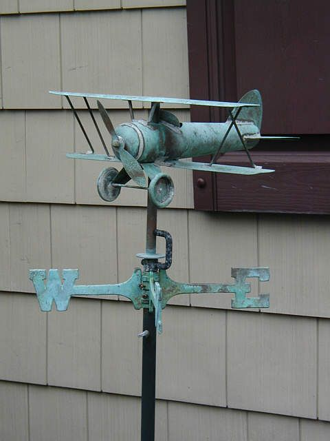 Airplane Weathervane...where can I find one like this? Love, Love, Love!