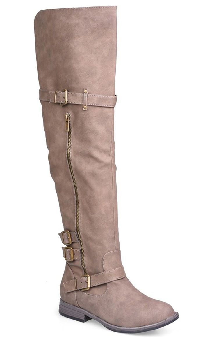 Twisted Women's Layla Wide Width/Wide Calf Over the Knee Faux Leather Riding Boot with Buckle Straps *** Want to know more, visit the site now : Over the knee boots