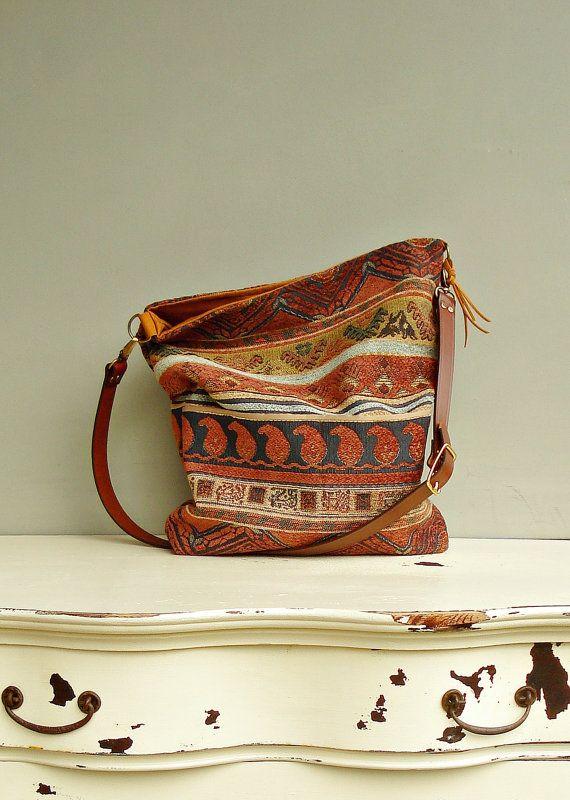 Crossbody Purse  Messenger Bag Aztec  by MondayMorningStudios, $68.00