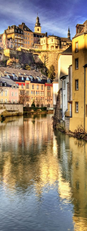 Alzette River . Luxembourg