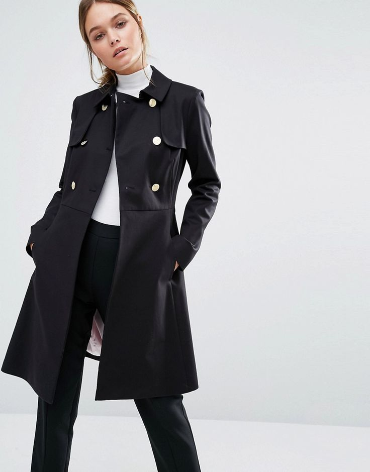 Ted Baker Nusa A-Line Fitted Trench Coat http://www.sizestyler.co.uk/product/buy/ted-baker-nusa-a-line-fitted-trench-coat--black-16021366