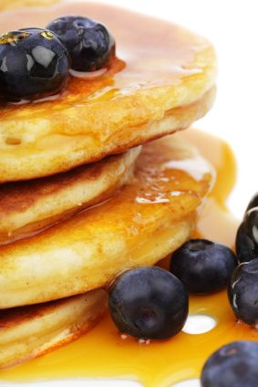 Substitute club soda for milk when making pancake batter. Your pancakes will be lighter and fluffier!  Recipe:  2 cups biscuit mix (I use Bisquick) 1 egg 1/2 cup vegetable oil 1 1/2 cups club soda  Directions: 1Mix ingredients until smooth and blended but dont overbeat. 2.Ladle mix onto hot griddle or pan.