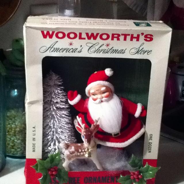 Vintage Woolsworths Ornament box.