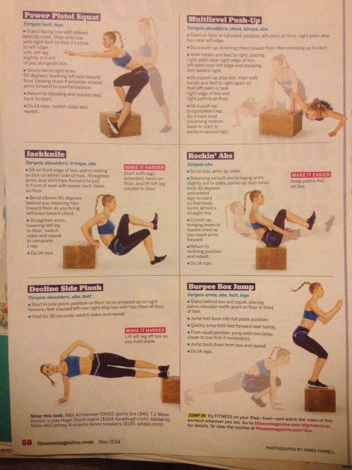 Plyo box workout