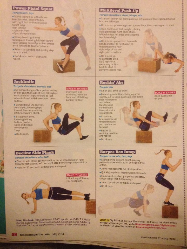 Plyo box workout | Workouts | Pinterest | Boxes and Workout