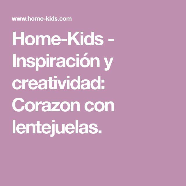 Home-Kids - Inspiración y creatividad: Corazon con lentejuelas.