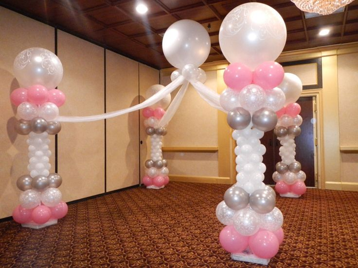 22 best balloon decorations images on pinterest balloon for Balloon decoration for christening party
