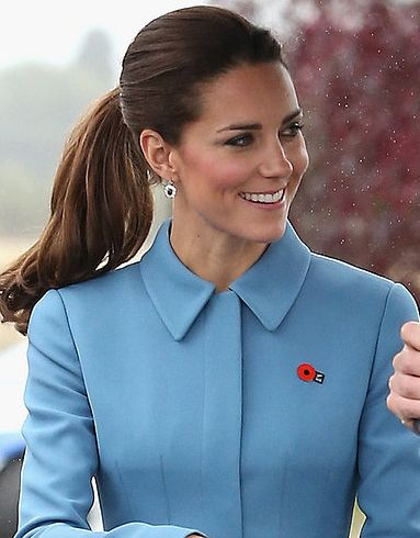 Catherine, Duchess of Cambridge...love her pony; it was casual but super classy and chic!