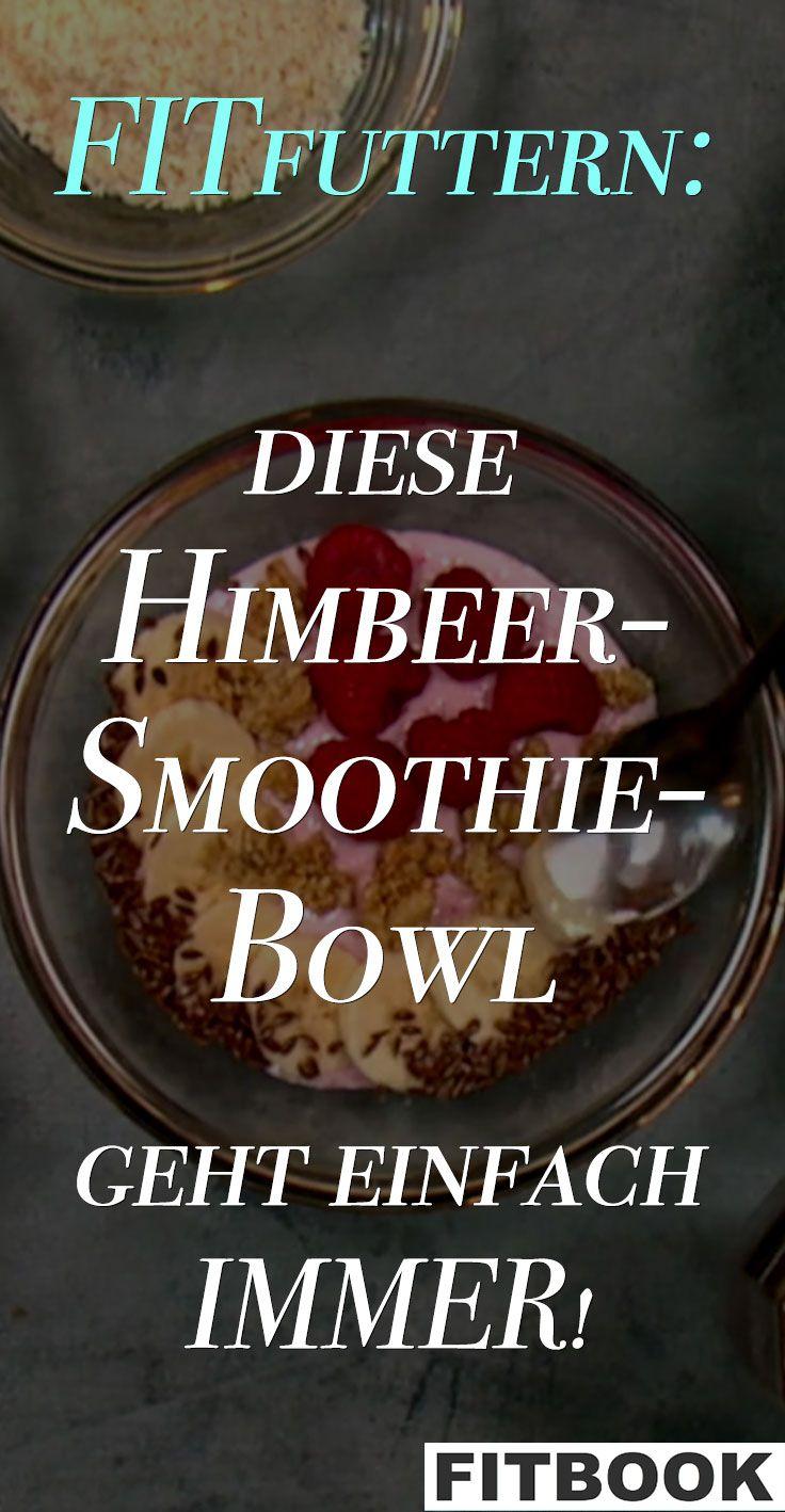 Shake, Power-Lunch oder Protein-Snacks: Jede Woche stellt FITfuttern ein Rezept zum Nachmachen vor. Einfach, lecker, gesund! Außerdem gucken wir Fitness-Influencern in die Töpfe und Shaker. Dieses Mal: eine Himbeer-Smoothie-Bowl.