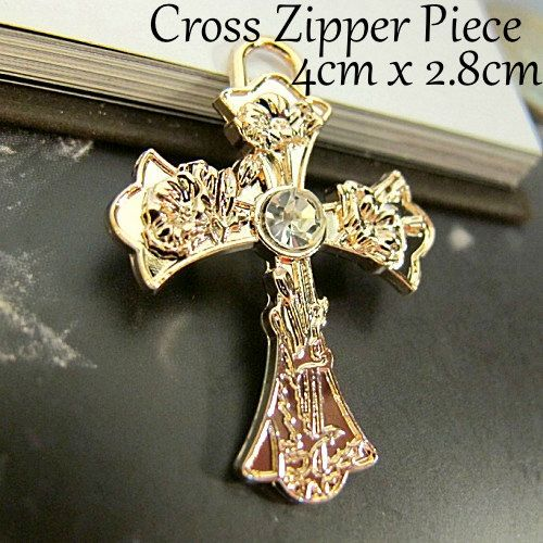 x10 Gold Vintage Cross Heart Detailed with by CRAFTFIXESANDMORE, $20.99