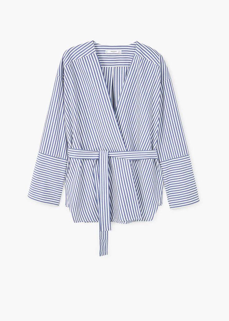 Wrap blouse | MANGO
