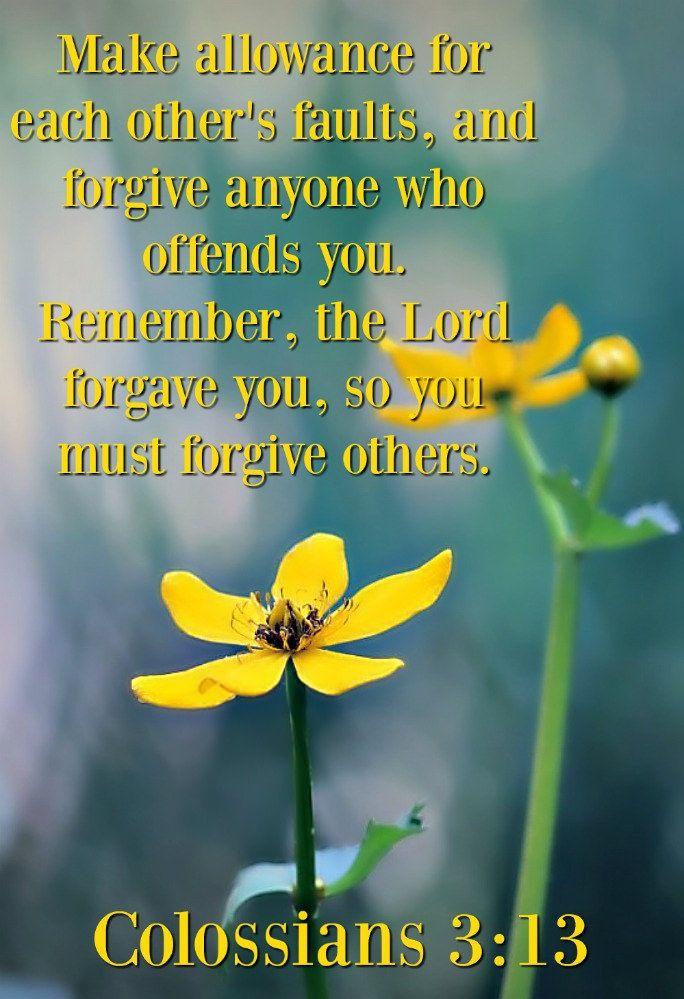 https://flic.kr/p/N6MrZn | Colossians 3:13 nlt | 10-11-16 Today's Bible Scripture Picture.