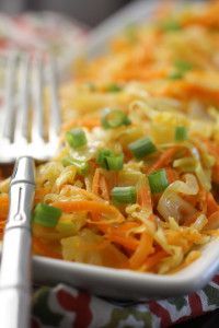 Ginger Fried Cabbage and Carrots (AIP, Paleo, Vegan) - Eat Heal Thrive