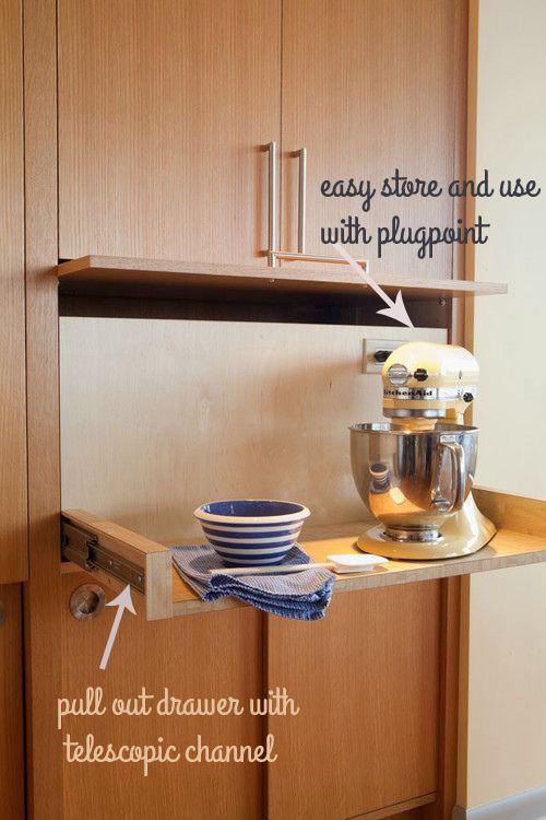 Best 25 Kitchen Appliance Storage Ideas On Pinterest