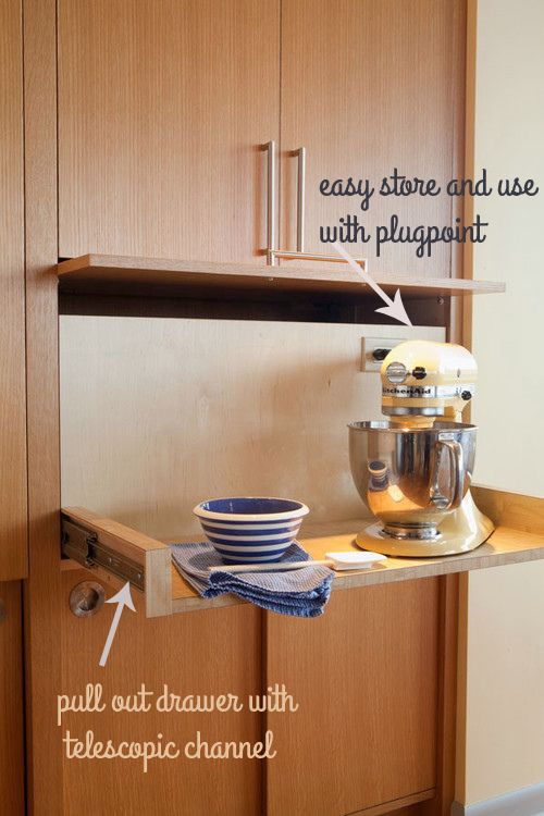 pull out small kitchen appliance storage | kitchen appliances
