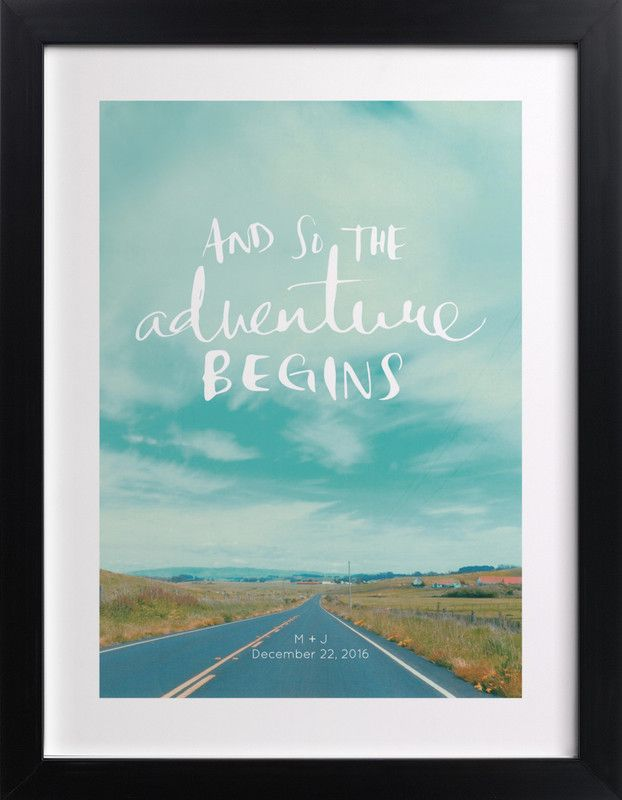 """""""Love Is An Adventure"""" - Custom Art Print by SylvieCeres Designs"""