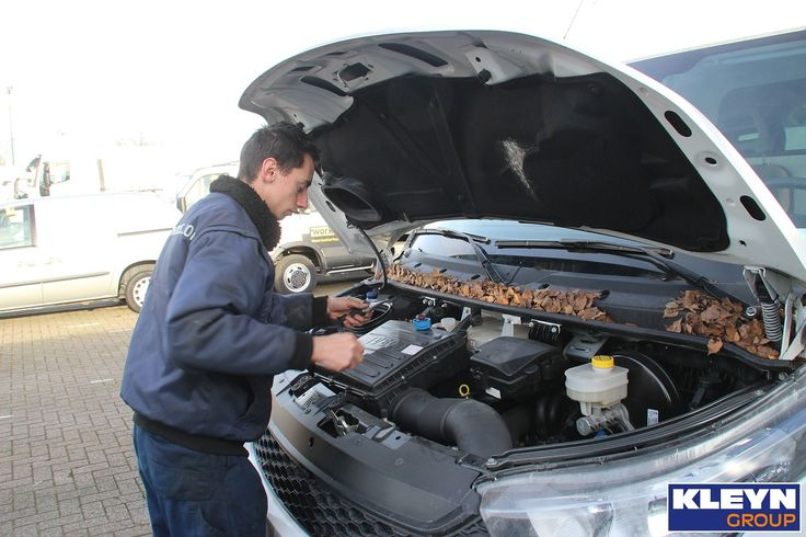 When a new vehicle is coming in, we first check it extensively. In this case, a Iveco Daily.