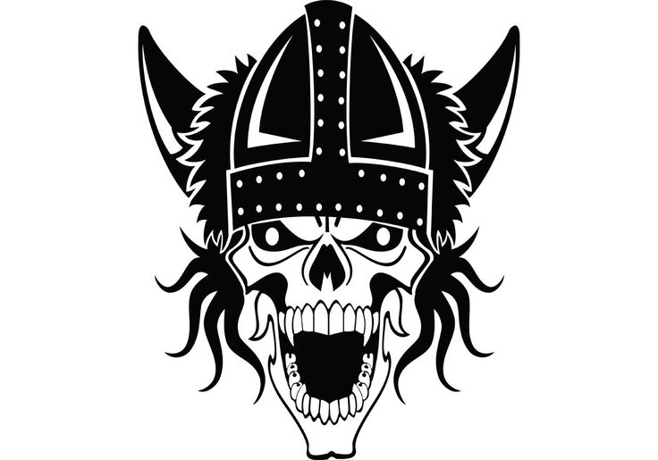 Free vector Viking Skull Vector #9103