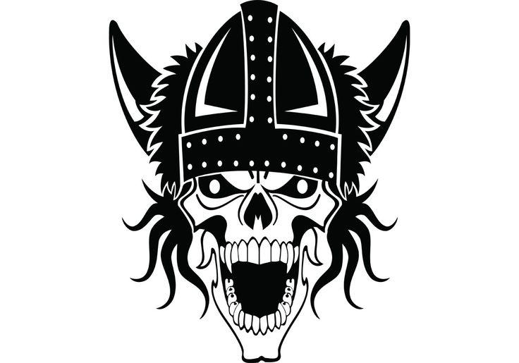 Free vector Viking Skull Vector #9103