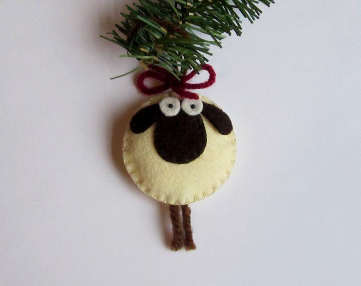 Giorgio the Sheep Christmas Ornament Felt. $8.00, via Etsy.