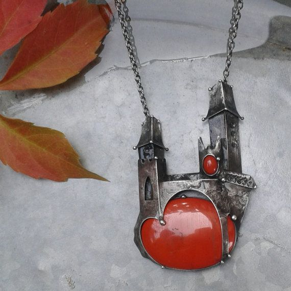 Tereza O Jewelry https://www.etsy.com/listing/478836347/handmade-red-jasper-art-necklace-on
