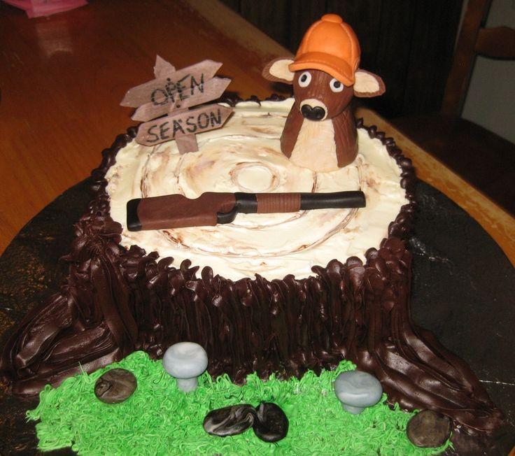 100 Deer Hunting Birthday Cakes Deer Silouhette Cakes U0026