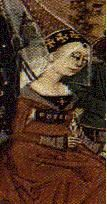 Edward II's wife, Isabella (c.1292-1358), bore him two sons, Edward III and John of Eltham, Earl of Cornwall (1316-1336), and two daughters, Isabella and Joanna (1321-1362), wife of David II, King of Scotland. After the execution of her paramour, Roger Mortimer, in 1330, Isabella retired from public life; she died at Hertford on the 23rd of August 1358.