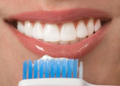 How to Whiten Teeth With Hydrogen Peroxide. Dip Q-tip in hydrogen peroxide (key ingredient in whitestrips) and apply to surface of teeth for 30 sec before brushing teeth once a day.