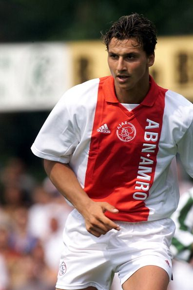 Zlatan Ibrahimovic, Ajax Amsterdam, 2001. He's what, 19 here? A babe in the woods.