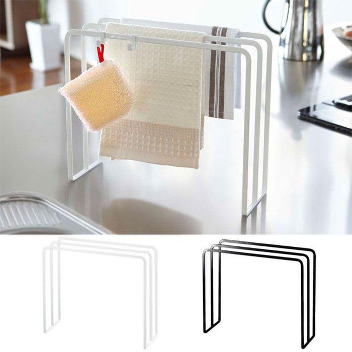 布巾ハンガーtower(タワー)ホワイト/ブラックふきんハンガー布巾掛けスポンジ掛けキッチン収納