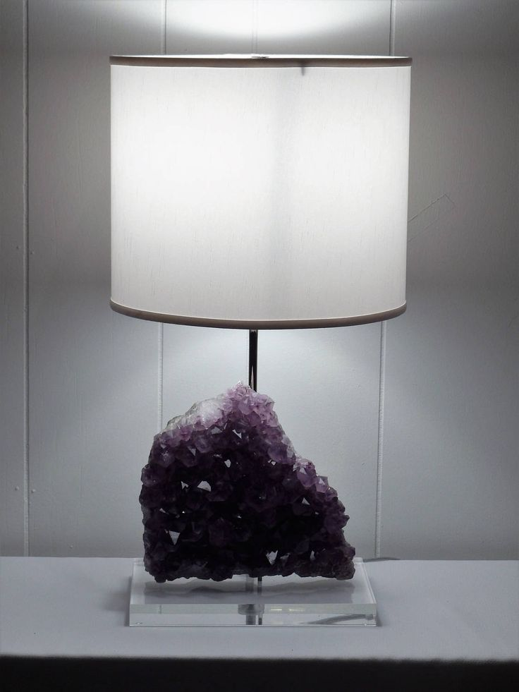 """Amethyst Rock Crystal Table Lamp """"Jessica"""" -- Crystals// Lamp//Gemstone Lamp//Mineral Lamp//Geode Lamp by CrystalLuxeLighting on Etsy"""