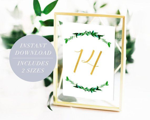 Wedding Table Numbers Printable Numbers Download, 4×6 5×7 Calligraphy PDF Digital Table Signs Rose Gold Silver Marble Table Numbers Wedding