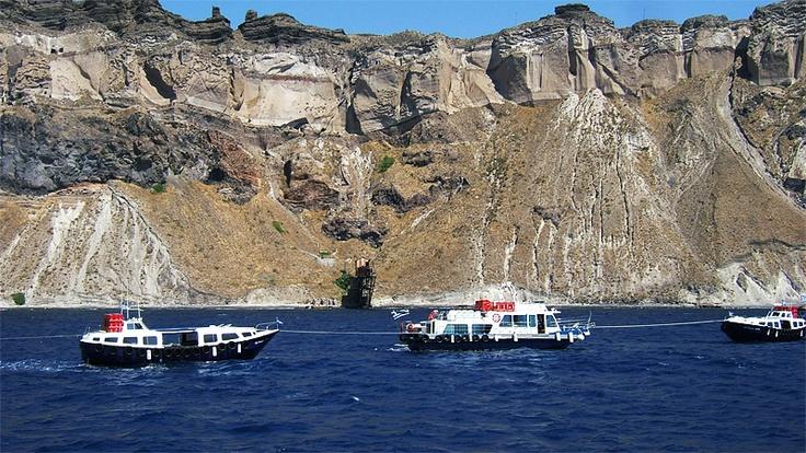 Tholos Resort Hotel Santorini - photo from the boat