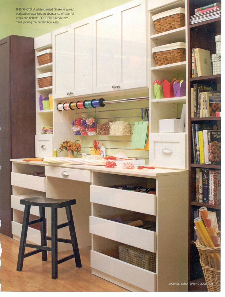 Craft room inspiration #furniture #painting #craftroom #fabric #sewing supply storage