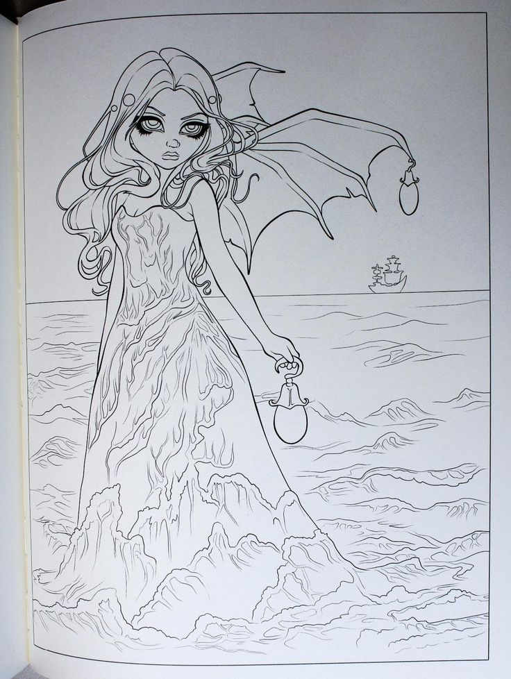 Faces of Faery 214 Jasmine Becket-Griffith art CANVAS PRINT goth angel fairy art