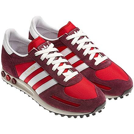 Men's LA Trainer Shoes, Vivid Red / Cardinal / Running White, pdp