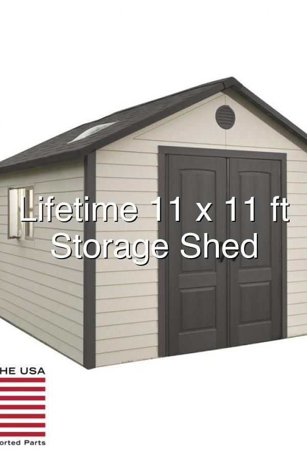 Lifetime 11 X 11 Ft Outdoor Storage Shed In 2020 Outdoor Storage Sheds Shed Storage Shed