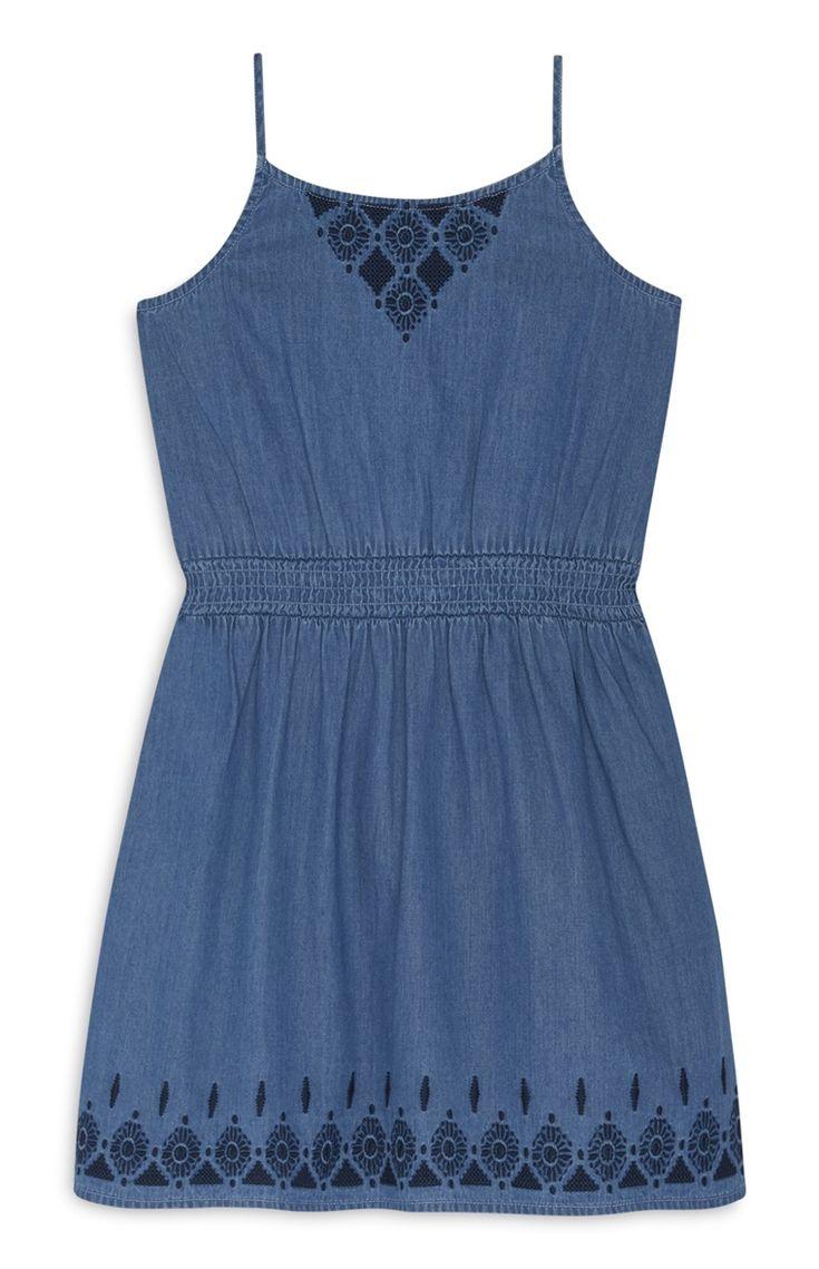 Primark - Robe bleue avec nœud au dos ado