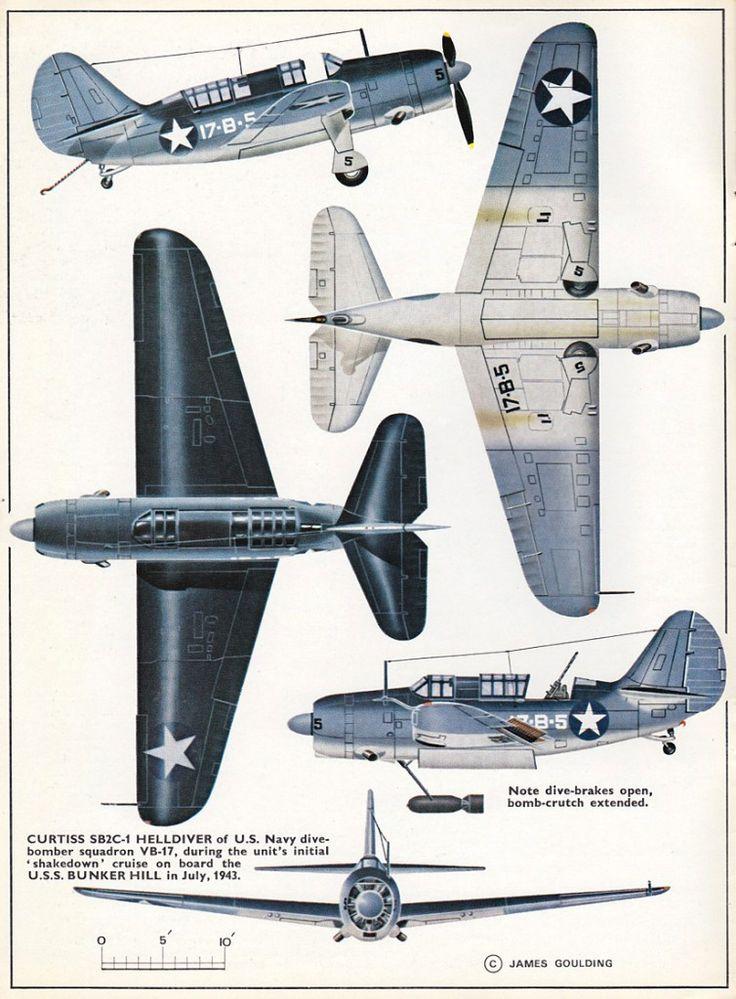 Profile N°124 - Curtiss SB2C-1 Helldiver http://maquettes-avions.hautetfort.com/archive/2011/03/06/profile.html