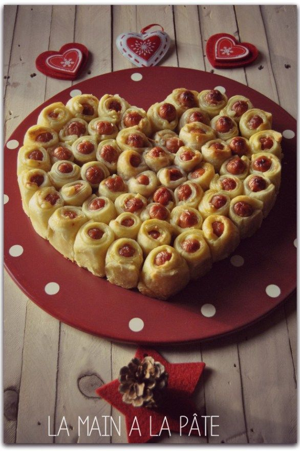 Coeur feuilleté aux petites saucisses 2